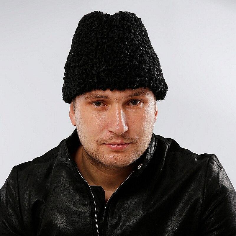 Frence Gentleman Hats Genuine Sheepskin Fur Male Cold Winter Leifeng New Cap Bomber Hats 2018 Casual Lambswool Men's Fur Hats