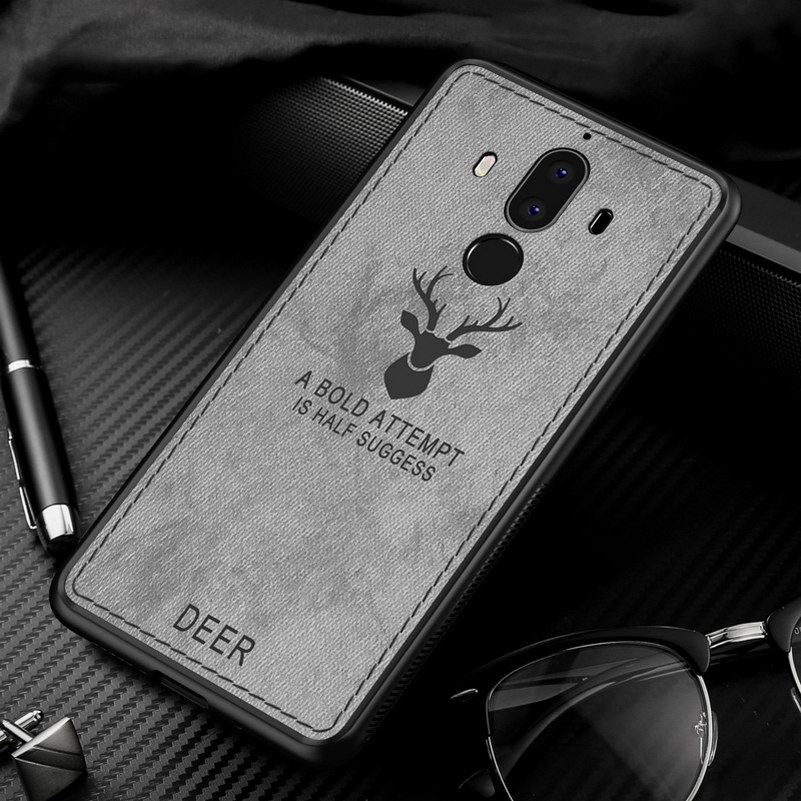 Christmas Fabric Vintage Deer Cloth Phone Cases For Huawei Mate 9 Ultra Thin Soft Silicone Cover For Huawei Mate9 Pro Case