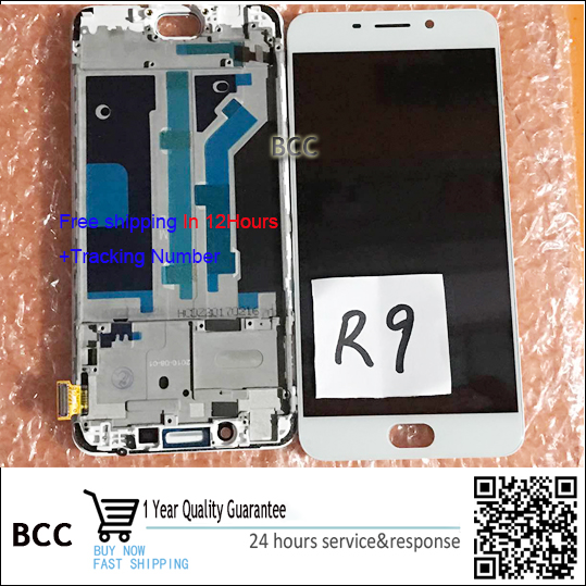 Original 5.5 LCD Display and Touch Screen Digitizer with frame For OPPO R9 Test ok+Free Tracking No