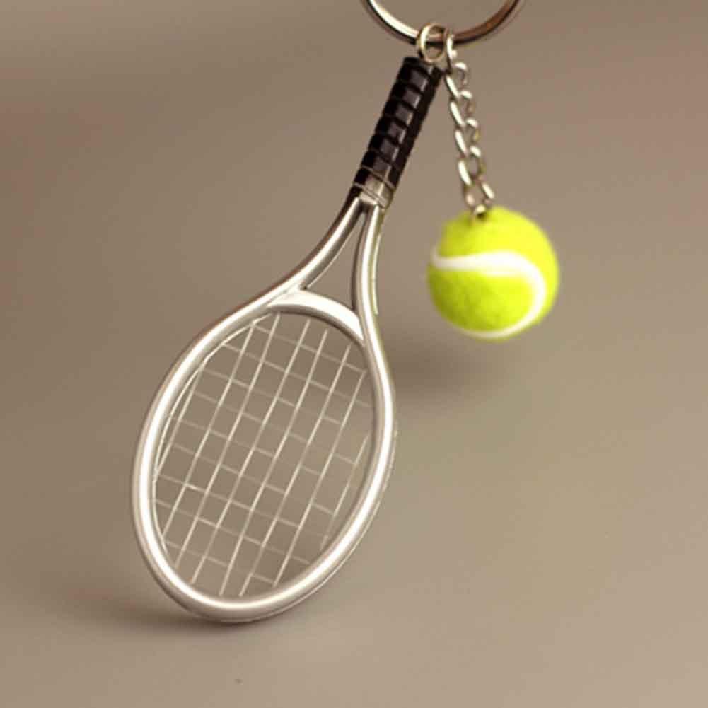 Portable Racket Ball Keychain Car Keychain Key Ring for Children Kids Gift