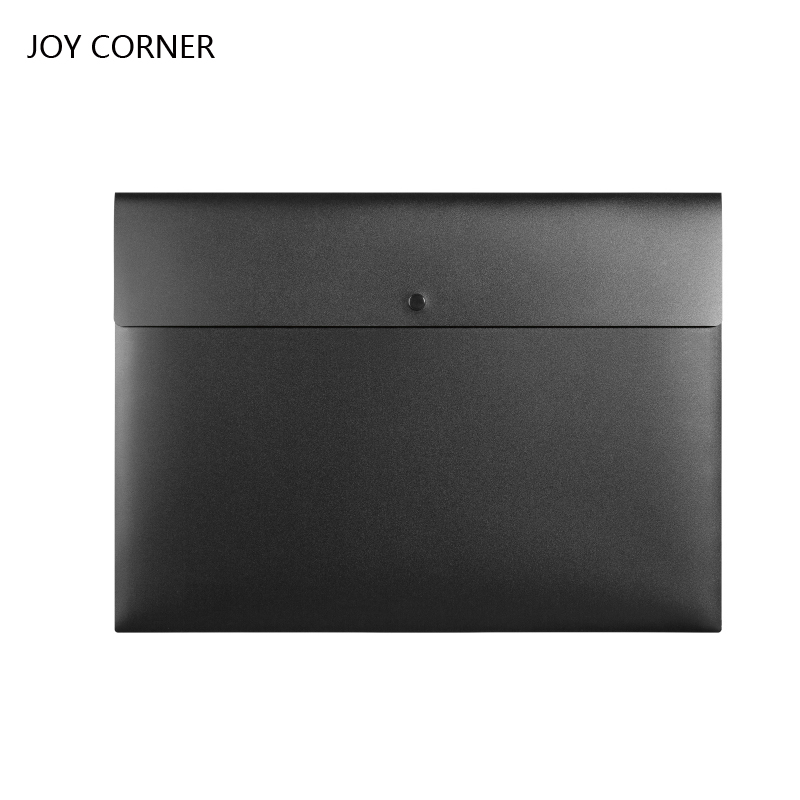 JOY CORNER A3 File Bag Folders For Documents Waterproof Document Case with Buttons Office School Supplies Folder For Papers 2018 korean office file folders multi layer expanding file folder a4 portable paper document bag for documents