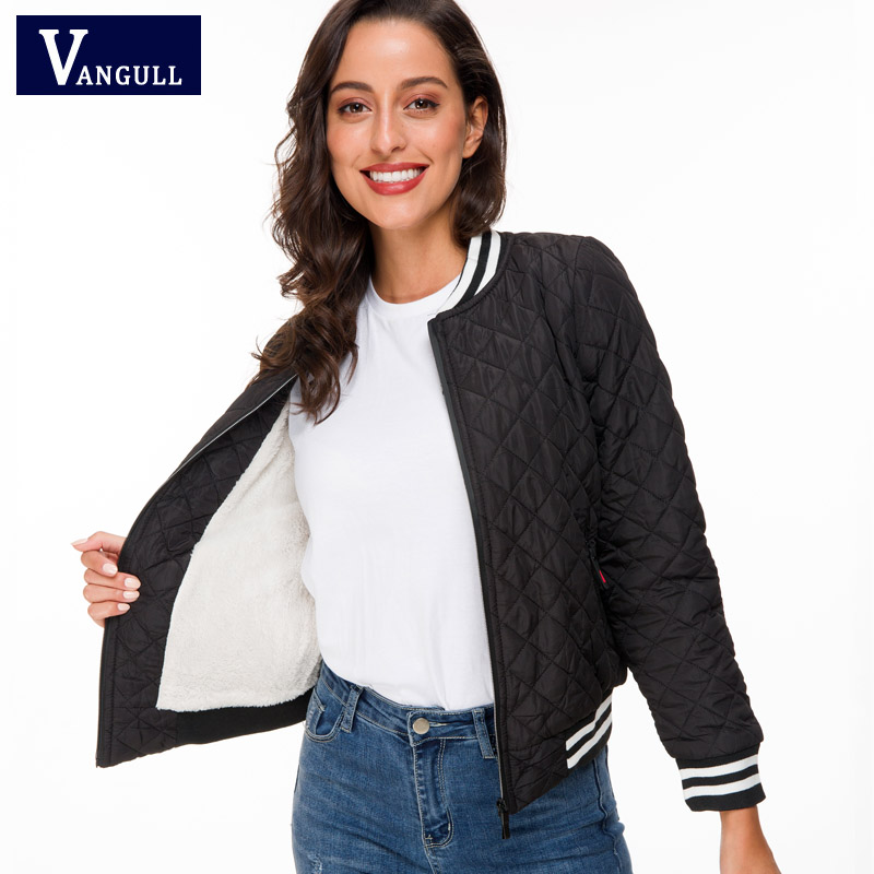 Vangull Autumn New Parkas basic jackets Ladies coat winter women outerwear short wadded jacket female padded parka overcoat