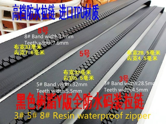 NEW 8# resin waterproof zipper 5M+5 sliders replacement outdoor sports luggage tents accessories  sc 1 st  AliExpress.com & Aliexpress.com : Buy NEW 8# resin waterproof zipper 5M+5 sliders ...