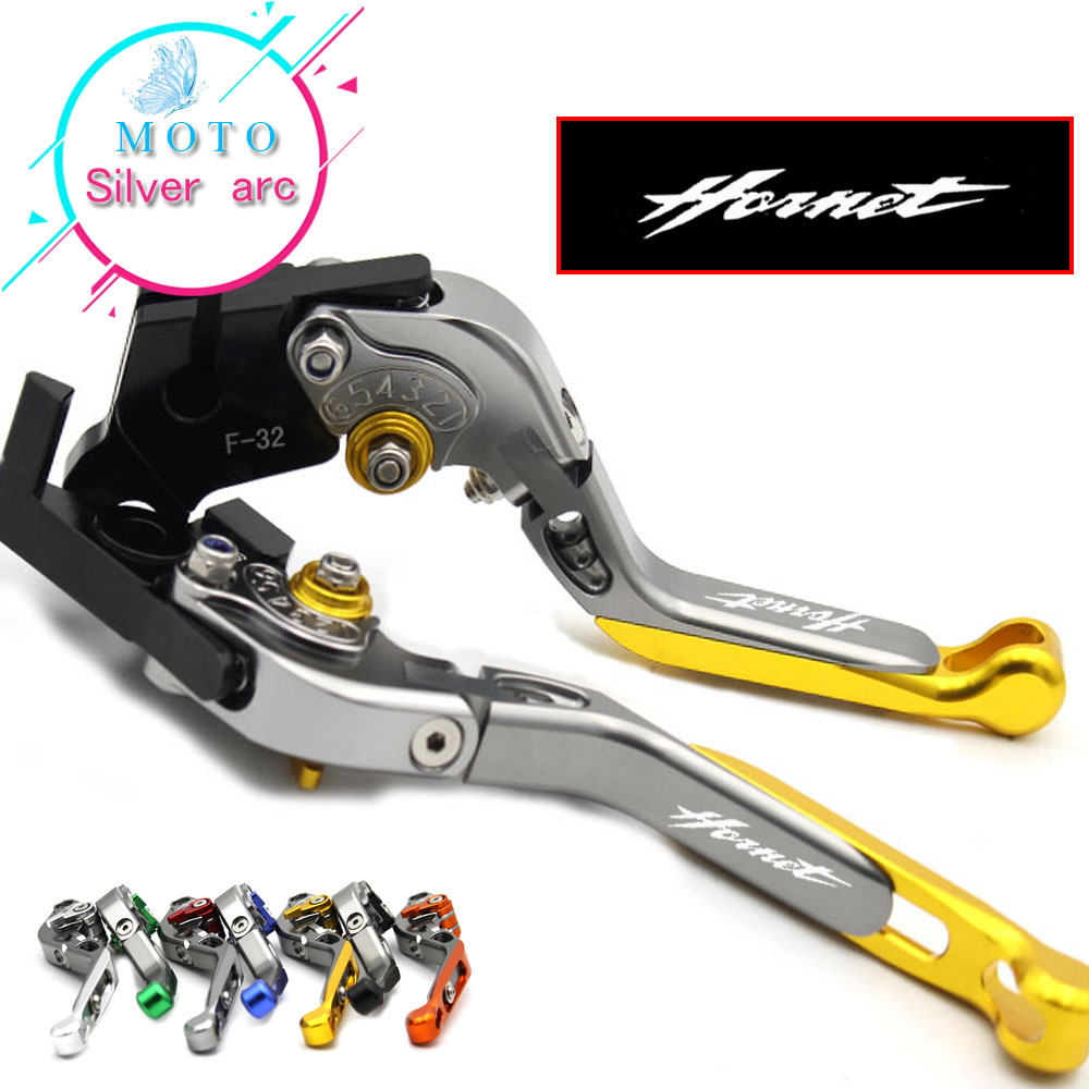 With CNC Logo Red Gold Engine Lever Clutch Brake For Honda CB600F / CB650F Hornet 2007-2013 2008 2009 2010 2011 2012 motorcycle cnc 3d short brake clutch levers black for honda hornet cb600f 2007 2013 2008 2010 2011 2012