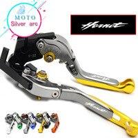 With CNC Logo Red Gold Engine Lever Clutch Brake For Honda CB600F / CB650F Hornet 2007 2013 2008 2009 2010 2011 2012