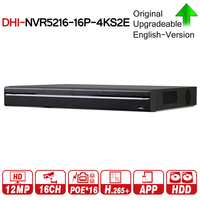 Dahua Pro 16CH NVR NVR5216 16P 4KS2E With 16CH PoE Port Support Two Way Talk e POE 800M MAX Network Video Recorder For System.