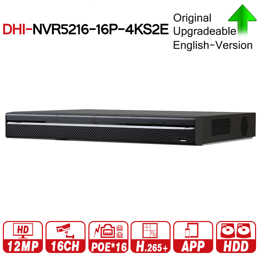 DH Pro 16CH NVR NVR5216-16P-4KS2E With 16CH PoE Port Support Two Way Talk e-POE 800M MAX Network Video Recorder For System dahua network video recoder nvr4208 8p hds2 nvr4216 16p hds2 8 16ch nvr support onvif poe nvr recorder for poe camera