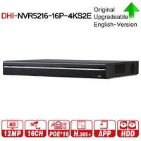 DH Pro 16CH NVR NVR5216 16P 4KS2E с 16CH PoE Порты и разъёмы Поддержка двухстороннее обсуждение e POE 800 м сети макс видео Регистраторы для Системы