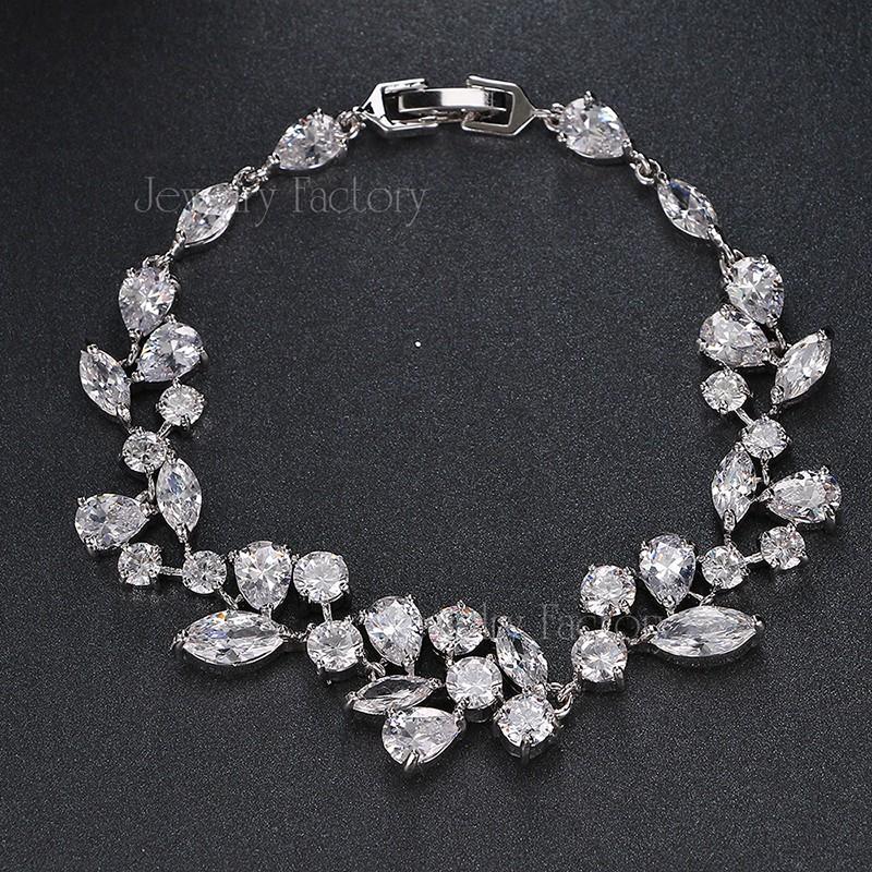 Emmaya модный уникальный дизайн трендовый браслет белого золота