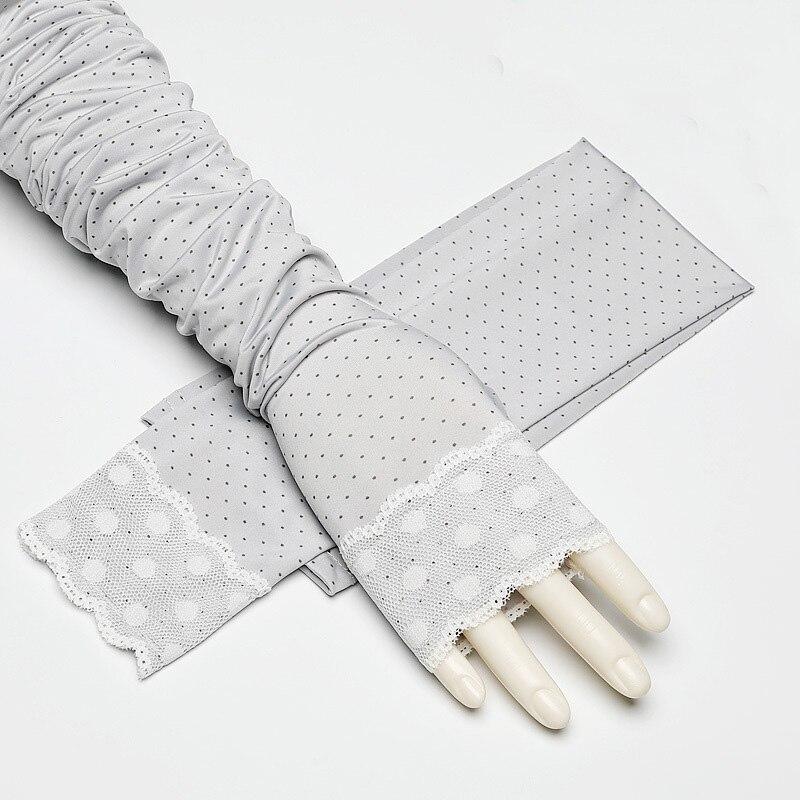 ̀ •́ Morewin moda nuevo encaje guantes sin dedos mujeres punto ...