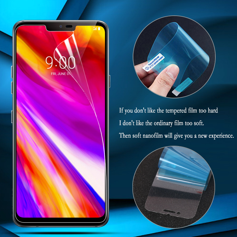 2Pcs Nano Explosion-proof Film For LG V40 V30 Q7 Q6 G7 ThinQ G6 G4 Screen Protector for LG K8 K10 2018 2017 Q Stylus Film Guard