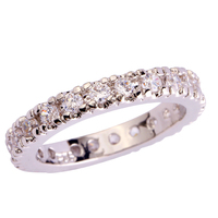 Wholesale New Novelty Round Cut White Topaz 925 Silver Band Ring Size 6 7 8 9 10 11 12 13 Fashion Jewelry  Gift  For Women