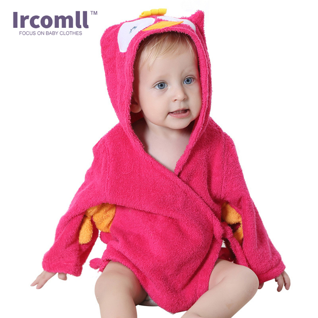 Children's Robe Bath Cute Cartoon Baby Bathrobe Comfortable Towel Bath Suction Sweat Home Wear For 0-12 Month 2