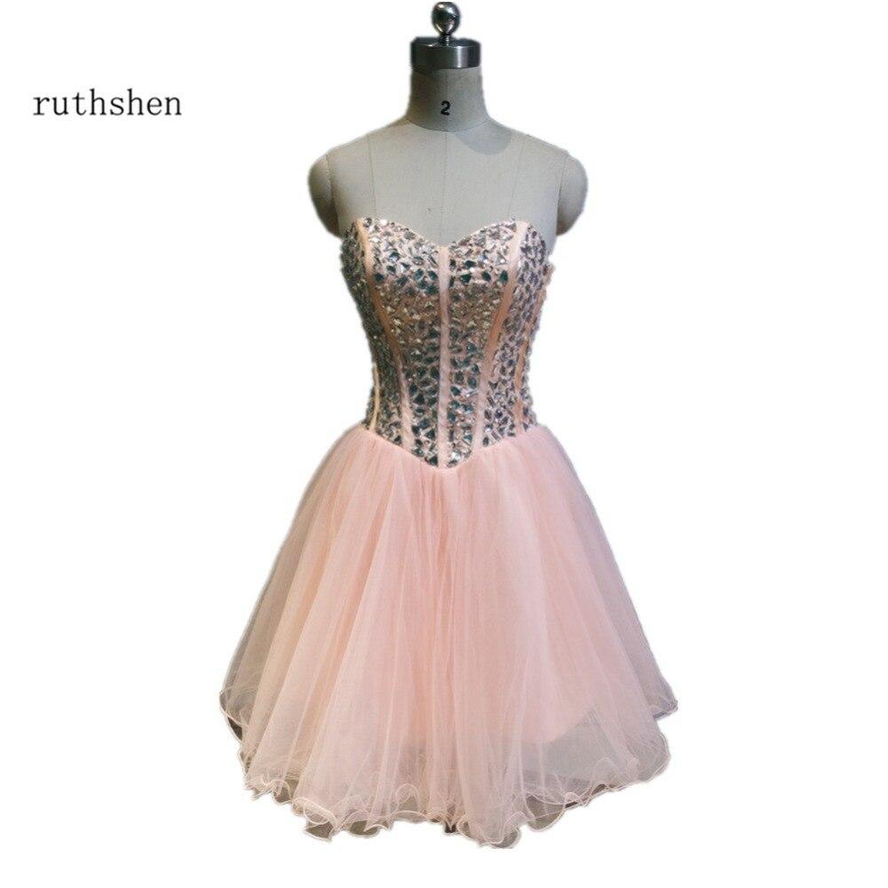 ruthshen Short Pink Homecoming Dresses 2018 Sweetheart Beaded Junior Teens 8 Grade Gradu ...