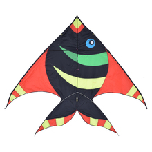 Quality Outdoor Fun Sports Kite Big Color Fish Shape Tails Large Beach Kites Kitesurf Pipas Voadores Children's Kids Toys #1666
