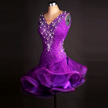 purple latin ballroom dress modern dance costume latin dress Latin dance dresses for women samba salsa dress latino women