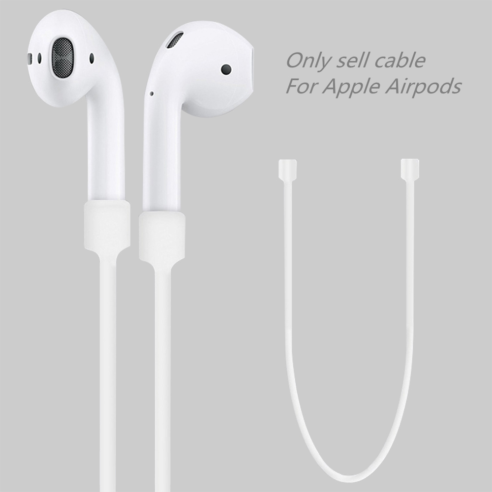 For Apple Airpods Anti Lost Strap Loop String Rope Silicone Earphones Cable Headphone Accessories Air Pods Cord iphone 7 Airpods