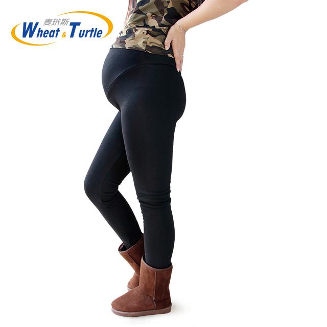 Mulheres Roupas de Cintura Alta Leggings Engrossado Com Veludo Mulheres Grávidas Leggings Maternidade Roupas de Inverno Calças Calças Quentes