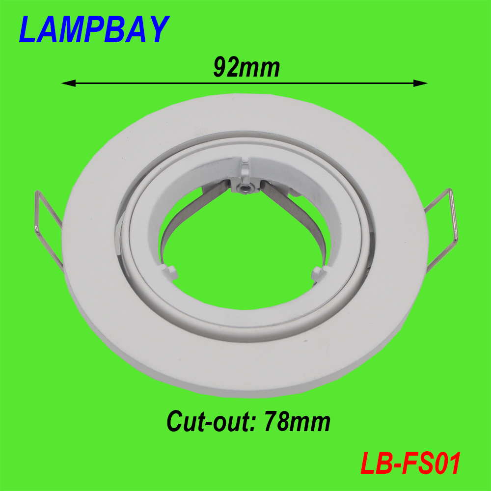 (10 Pack) Free Shipping silver / white spotlight fitting GU10 MR16 downlight fixtures lamp shades High quality
