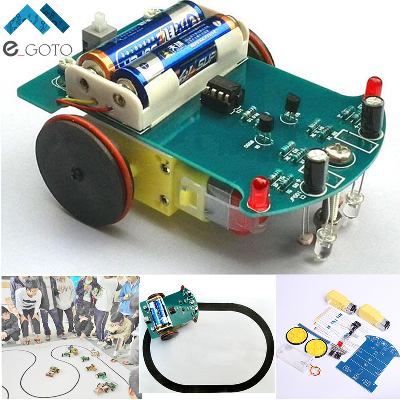 D2 1 DIY Kit Intelligent Tracking Line Smart Car Kit Suite TT Motor Electronic Production Smart