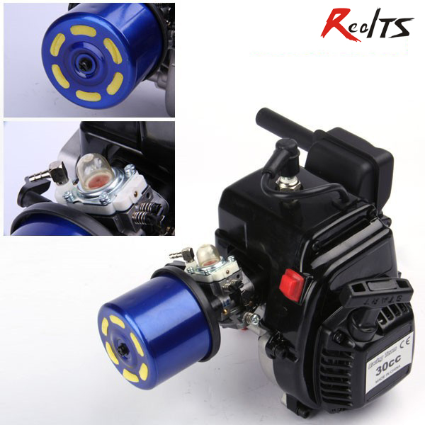RealTS 30cc Gas engine for 1/5 RC car aluminum water cool flange fits 26 29cc qj zenoah rcmk cy gas engine for rc boat
