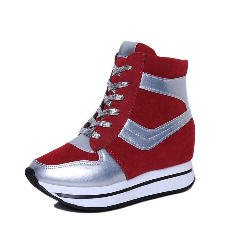 Spring autumn winter sneakers women shoes platform height increasing sneakers for women running shoes sport shoes women