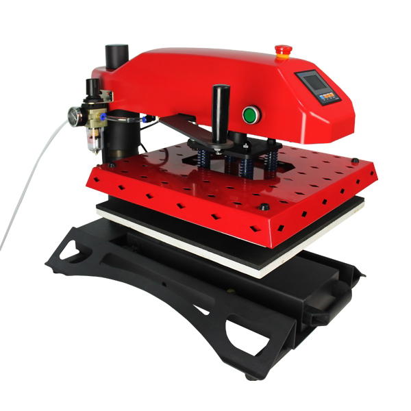pneumatic t shirt heat press machine for multicolor with different plate size 1 pc 2200w image heat press machine for t shirt with print area available for 38 cm x 38 cm