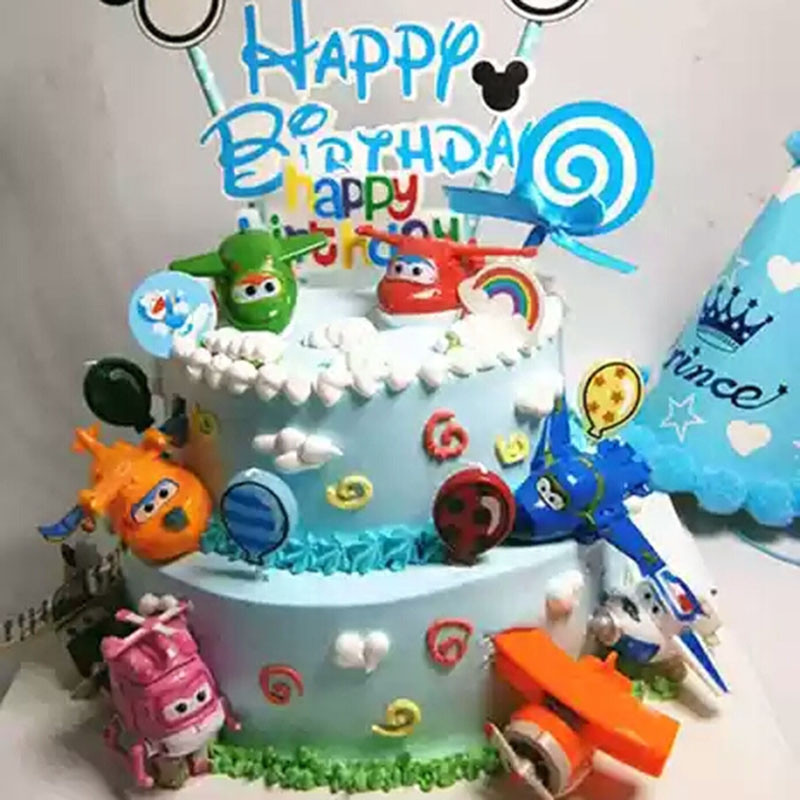 Strange T Birthday Party Super Wings Toys Topper Robot Toy Airplane Personalised Birthday Cards Epsylily Jamesorg
