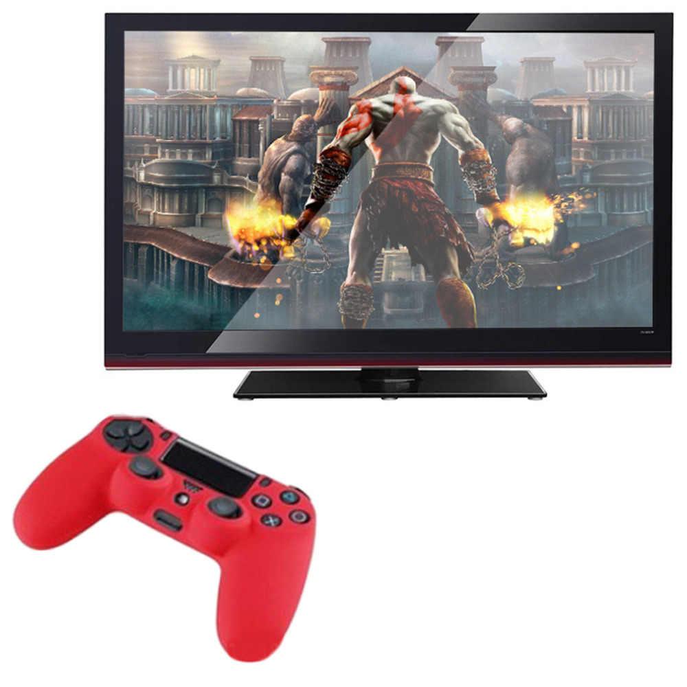 أحدث أسود أزرق أحمر لينة سيليكون المطاط هلام الجلد عدم الانزلاق غطاء لجهاز تحكم PS4