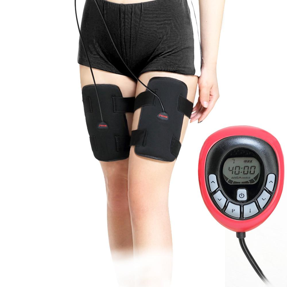 150 intensité électrique Rechargeable EMS jambe minceur thighToning ceinture ABS femelle cuisse Toner minceur jambes ceinture
