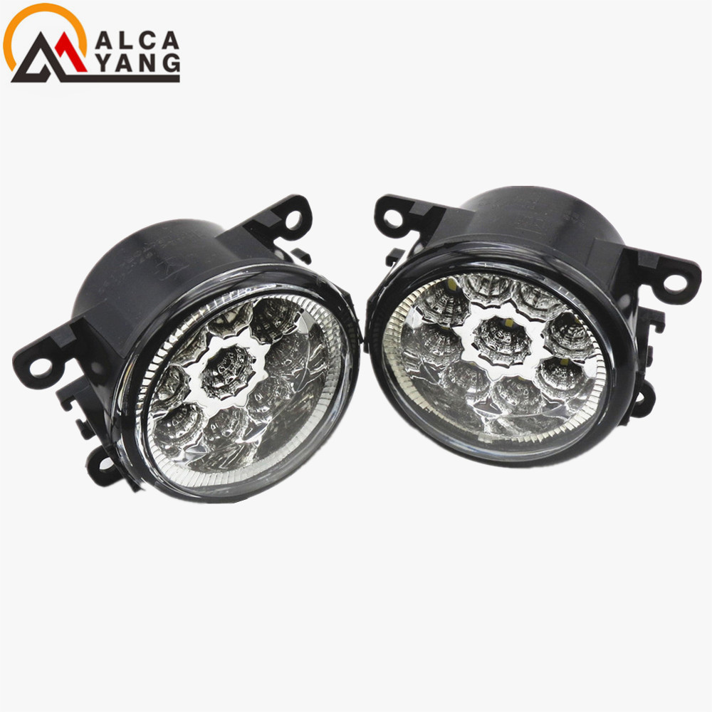 1set CCC For Renault LOGAN Saloon LS 2004-2015 Angel Eyes Car styling front bumper LED fog Lights high brightness fog lamps  led front fog lights for dacia logan saloon ls 2004 2011 2012 car styling bumper high brightness drl driving fog lamps 1set