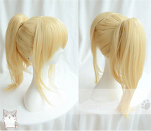 Beautiful Fashion Style Your Lie in April Kaori Miyazono Light Golden Ponytail Wig Shigatsu wa Kimi no Uso Anime Cosplay Hair