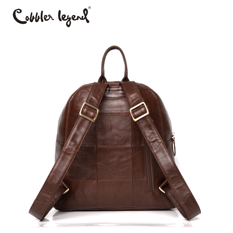 Cobbler Legend Famous Brand Women Leather Backpack Bag Vintage Small Backpack for Girls Women Backpack Mini Shoulder Bag mochila in Backpacks from Luggage Bags