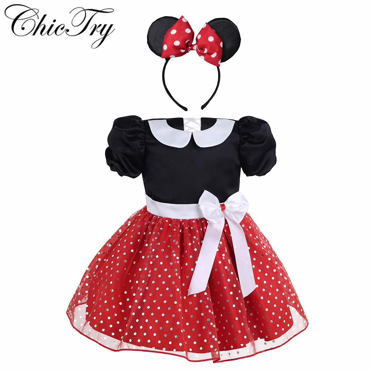 Girls Fancy Birthday Party Dress For Halloween Cosplay Tutu Dress Up Clothes Kid Costume Baby Girls Party Dress with Hair Hoop