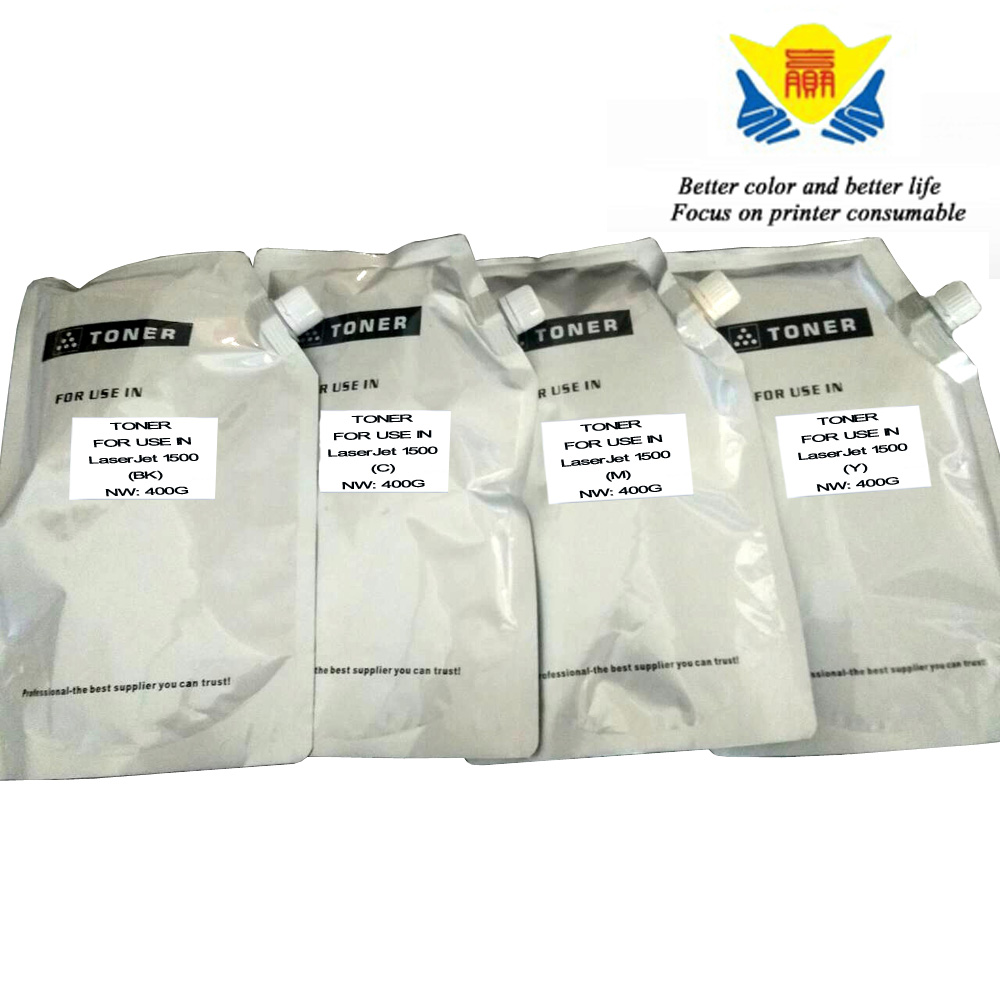 4bags lot Excellent 400g Compatible refill Toner Powder For HP LaserJet 1500 2500 2550