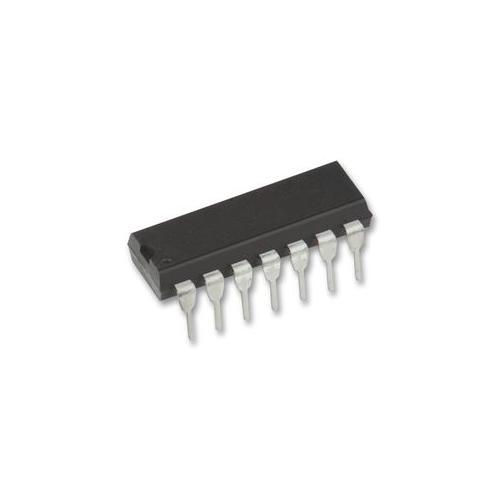 10PCS/LOT NEW <font><b>74HC125</b></font> SN74HC125N DIP-14 logic circuit four bus buffer driver image