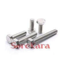 M8*10-M8*150mm Pitch 1.25 304 Stainless Steel Hex Head Cap Screws Tap Bolts