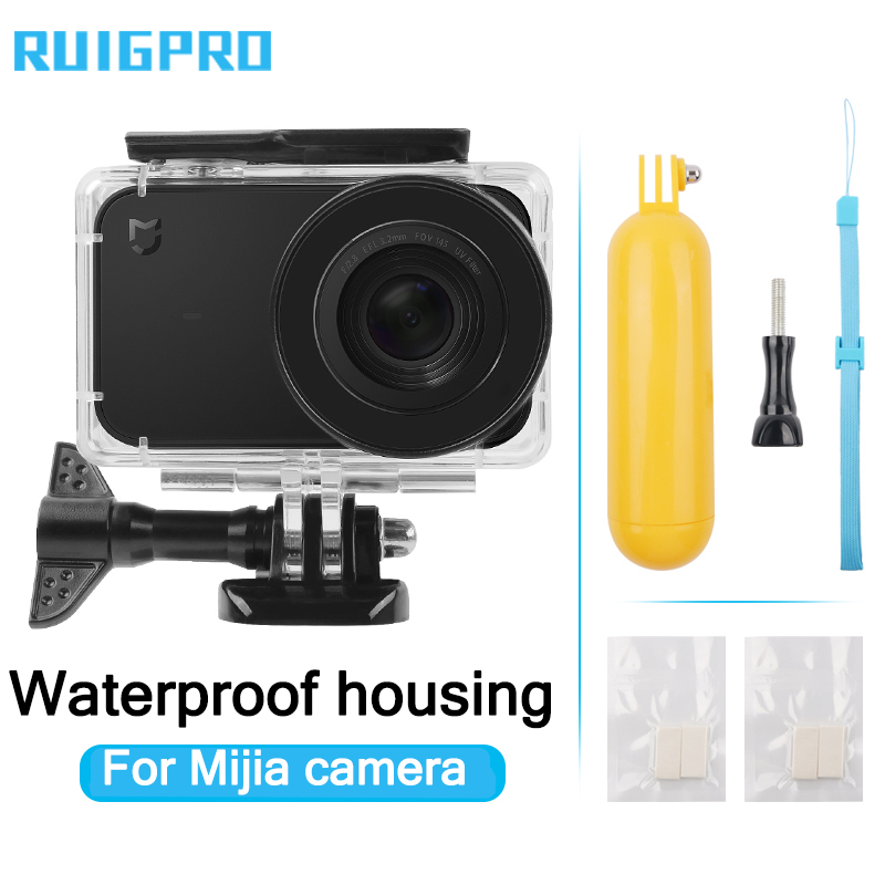 45M Diving Waterproof Case For Xiaomi Mijia 4K Mini Action Camera Case Cover For Mijia Mini Camera Protective Housing