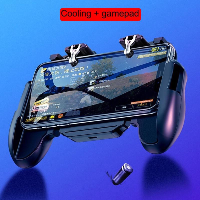 Image 2 - Контроллер для игровых приставок триггер кулер охлаждающий вентилятор Fire PUBG мобильный игровой контроллер Джойстик металлический L1 R1 триггер игровой аксессуар-in Геймпады from Бытовая электроника