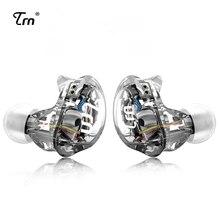 سماعات أذن TRN V10 2DD مزودة 2BA هجينة في الأذن سماعات DJ HIFI Monito رياضية للركض سماعات أذن مع قابس سماعات 2 pin قابل للفصل TRN V80