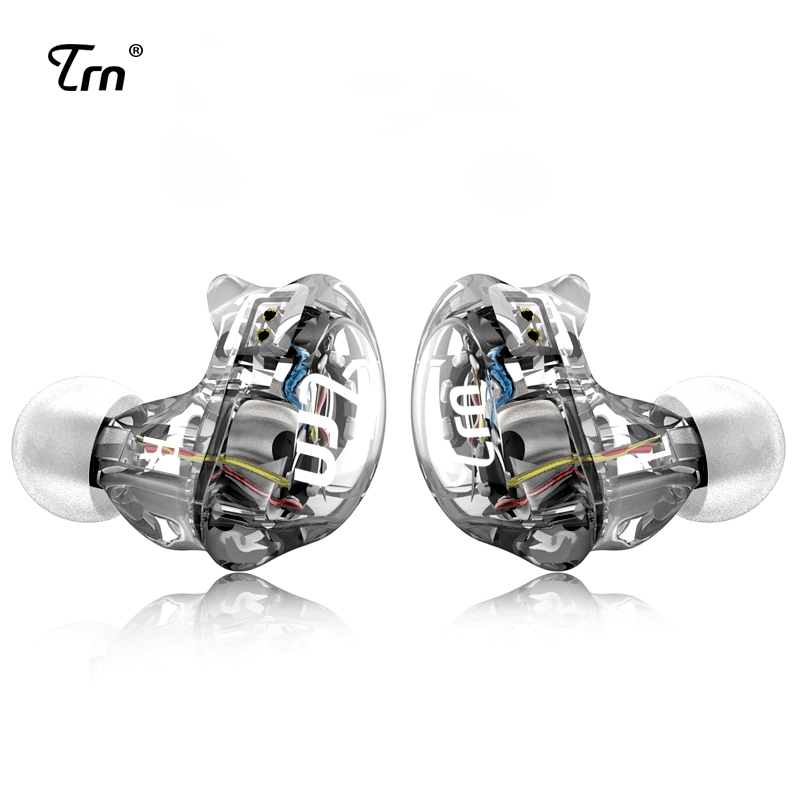 TRN V10 2DD Avec 2BA Hybride Dans L'oreille Écouteurs DJ HIFI Monito de Course Sport Écouteurs Casque de Boules Quies Avec 2PIN Amovible TRN V80