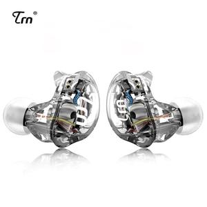 Image 1 - TRN V10 2DD z 2BA Hybrid w ucho słuchawki douszne słuchawki DJ HIFI monitora sportowe słuchawki do biegania zestaw słuchawkowy zatyczki do uszu z 2PIN odpinany TRN V80