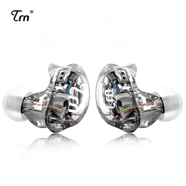 TRN V10 2DD z 2BA Hybrid w ucho słuchawki douszne słuchawki DJ HIFI monitora sportowe słuchawki do biegania zestaw słuchawkowy zatyczki do uszu z 2PIN odpinany TRN V80