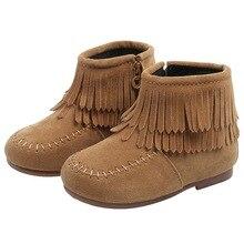 Shoes Snow-Boots Toddler Infant Girls Baby Boys Winter Kids Warm Anti-Slip Tassel