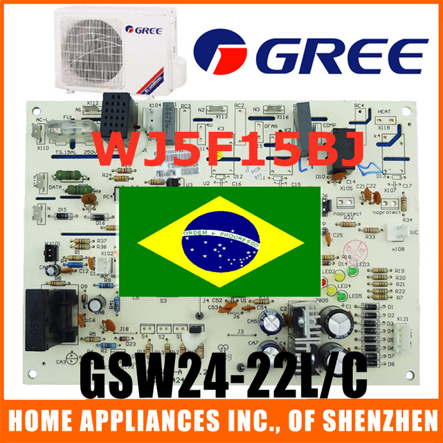 Gree Air Conditioner Outdoor Unit Circuit Board Wj5f15bj For Model Gsw24 22l C