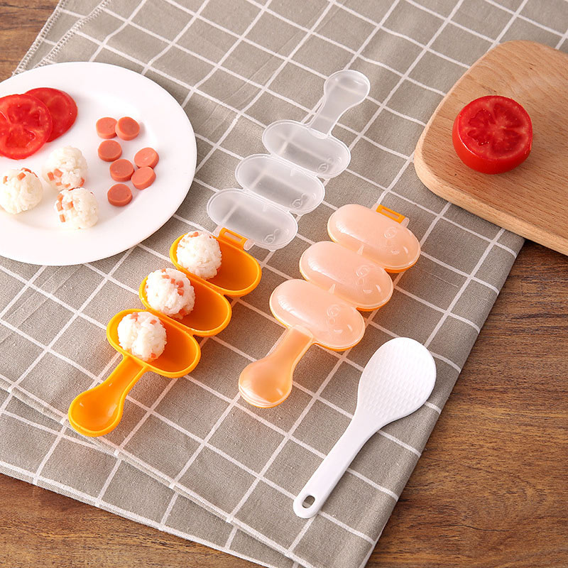 Kids Lunch DIY Sushi Maker Mould Baby Rice Ball Mold Shakers Food Decoration Kitchen Tools J2Y in Sushi Tools from Home Garden