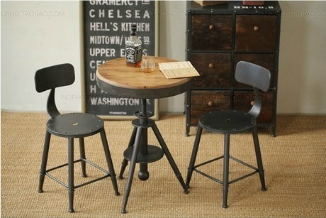 American country to do the old retro bar, wrought iron furniture dinette dining table antique coffee dinette