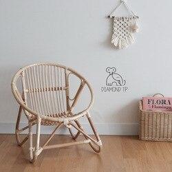 INS Wind Silla de ratán para niños Silla de ratán indonesio decoración de habitación para niños sillas para niños Pure Hand Kids Furniture