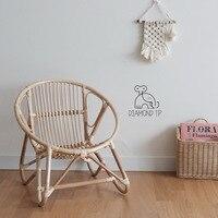 Ins vento cadeira do rattan das crianças indonésio cadeira do rattan decoração do quarto das crianças cadeiras da criança mão pura mobília dos miúdos|Cadeiras para crianças| |  -