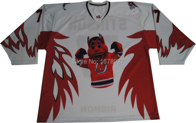 Vneck with Insert Triangle White Red Wing Ice Hockey Jersey Sublimated Creative Design Hockey Shirts(China (Mainland))